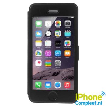 Window view case voor iPhone 6/6S Plus – Zwart