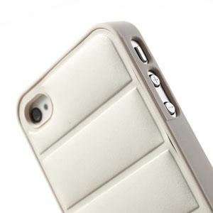 Hard case met lederen achterkant voor iPhone 4/4S