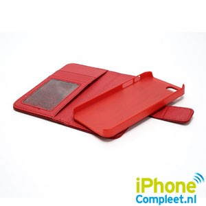 iPhone 5[S] Wallet case 2-in-1 – Rood