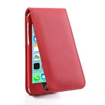 iPhone 5C lederen flip-over hoesje – Rood