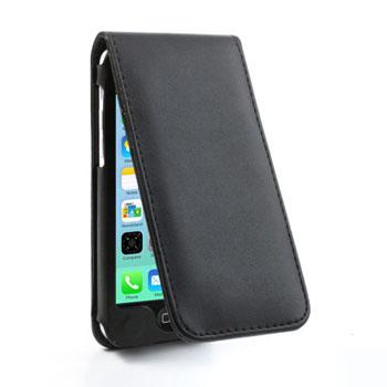 iPhone 5C lederen flip-over hoesje – Zwart