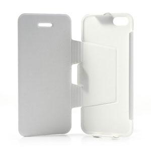 Lederen case met standaard voor iPhone 5C
