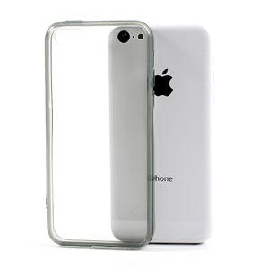 iPhone 5C hoesje: transparant met gekleurde bumper