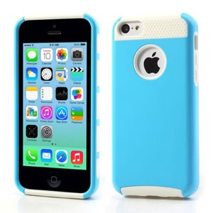 Glossy iPhone 5c hoesje – Blauw/wit