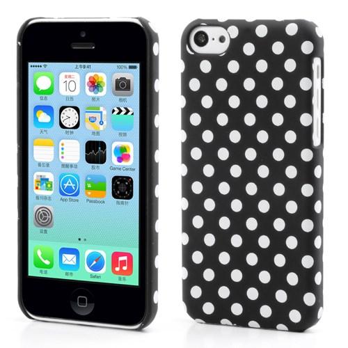 Polka Dot hoesje voor iPhone 5C – Zwart