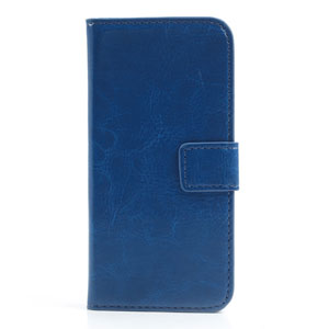 Wallet case voor iPhone 5[S] – Donkerblauw