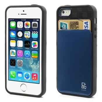 Hoesje met pasjesinsteek voor iPhone 5[S] – Donkerblauw