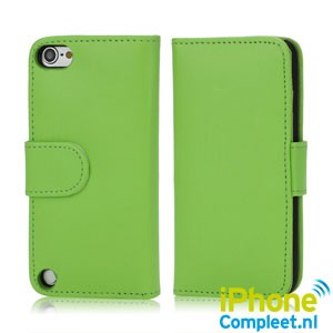 Lederen Book Case voor iPod Touch 5 – Groen