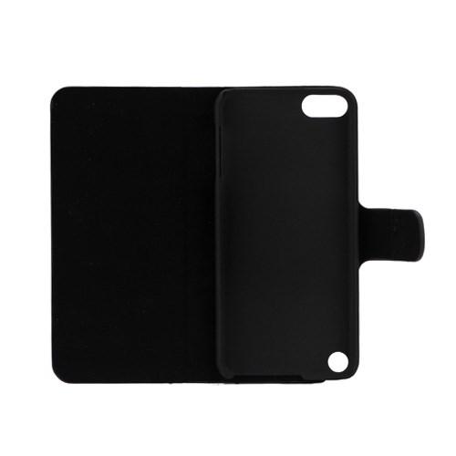 Zwart met witte stippen book case voor iPod Touch 5