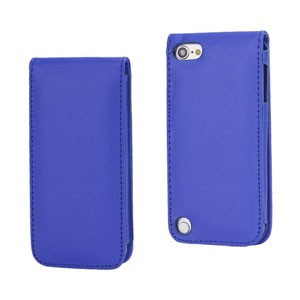 iPod Touch 5: Verticale flip-over case – Blauw