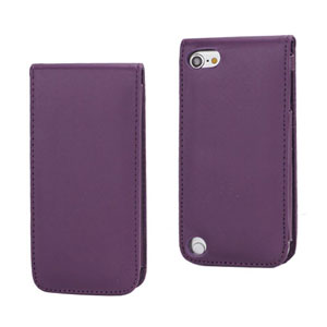 iPod Touch 5: Verticale flip-over case – Paars