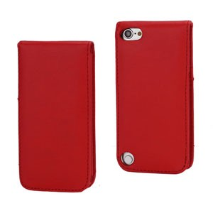 iPod Touch 5: Verticale flip-over case – Rood