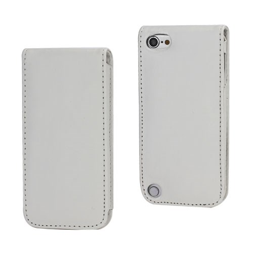 iPod Touch 5: Verticale flip-over case – Wit