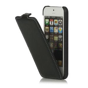 iPhone 5[S] Lederen case met witte stiksels