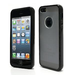 iPhone 5[S] hard plastic case-mat – Zwart