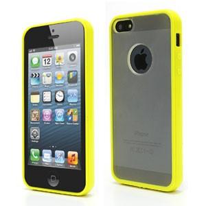iPhone 5[S] hard plastic case-mat – Geel
