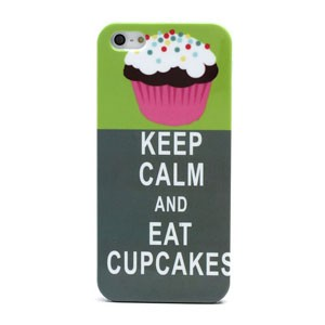 iPhone 5[S] hoesje: Keep calm and eat cupcakes