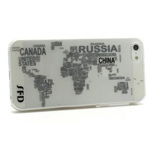 iPhone 5[S] hoesje: wereldkaart
