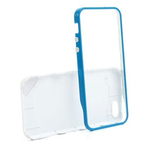 iPhone 5[S] hard case: Ppyple case wit-donkerblauw