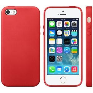 Strak TPU hoesje voor iPhone 5[S] – Rood