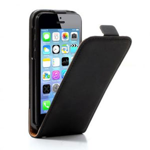 Lederen Vertical Flip Case voor iPhone 5C