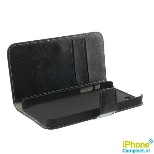 Wallet case voor iPhone 5[S] – Zwart