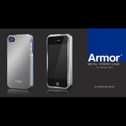 iphone4s armor aluminiumblauw