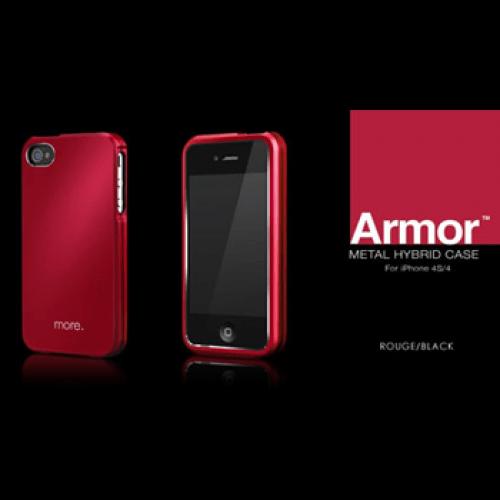 iphone4s armor roodzwart