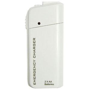 Noodoplader op AA batterijen – wit