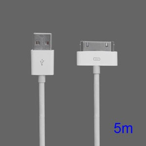 30-pins USB data en oplaadkabel 5 meter