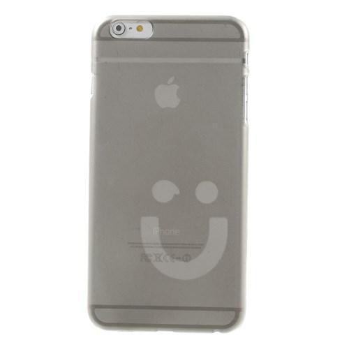Dun iPhone 6/6S hoesje met smiley – Grijs