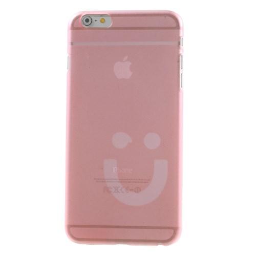 Dun iPhone 6/6S hoesje met smiley – Roze
