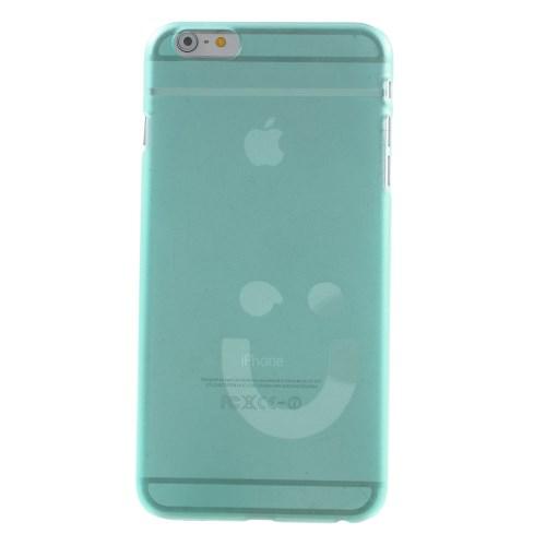 Dun iPhone 6/6S hoesje met smiley – Blauw