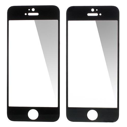 0.3mm Tempered Glass Screen Guard Film voor iPhone 5/5S/5c – Zwart