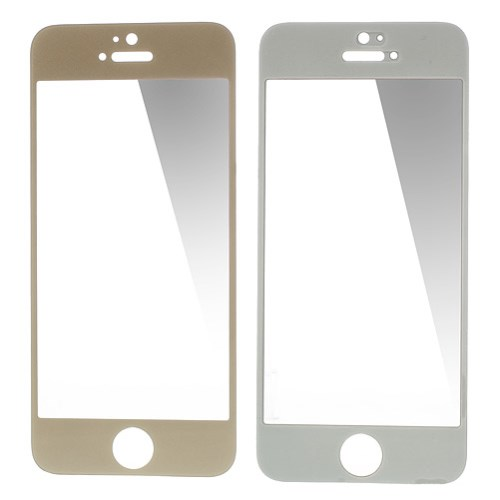0.3mm Tempered Glass Screen Guard Film voor iPhone 5/5S/5c – Champagne