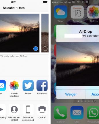 Airdrop gebruiken op je iPhone