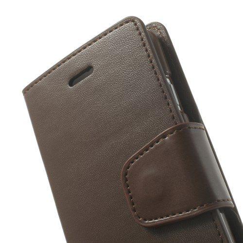 goospery sonata leather wallet book bruin
