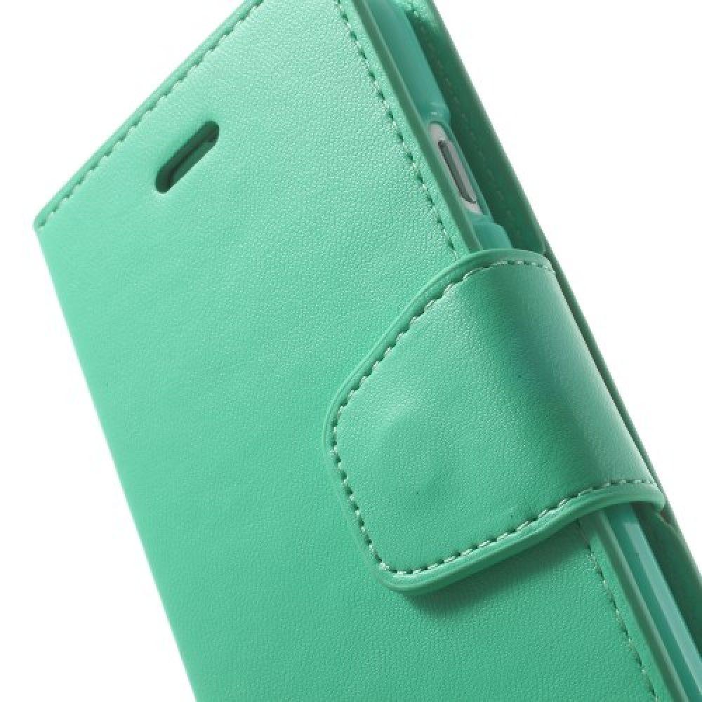 goospery sonata leather wallet book mintgroen