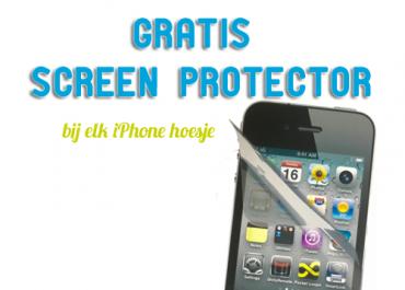 Gratis screen protector bij je iPhone hoesje