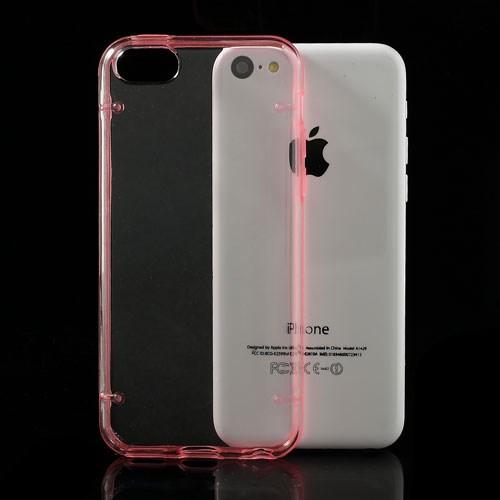 iPhone 5C Transparant met Gekleurde Oplichtende Bumper