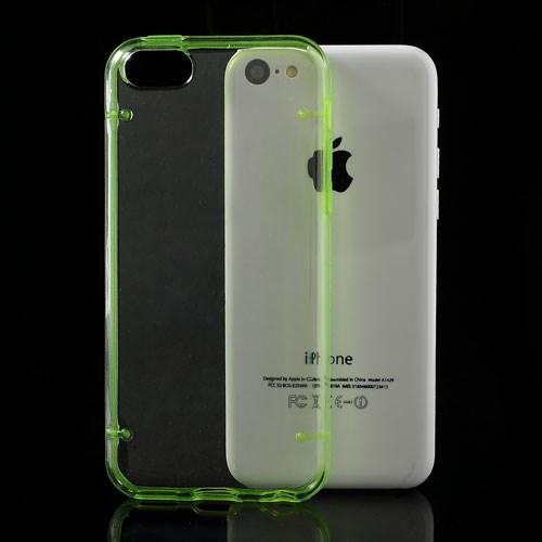 iPhone 5C Transparant met Gekleurde Oplichtende Bumper – Groen