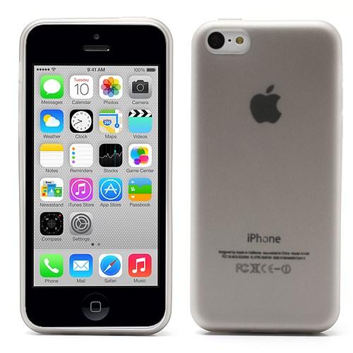 iPhone 5C hoesje – doorschijnend – grijs