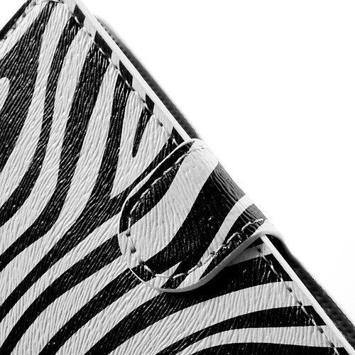 iphone5c bookcase zebrapatroon