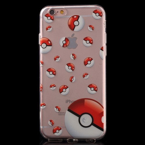 Pokemon Poke Balls TPU hoesje voor iPhone 6[S] Plus