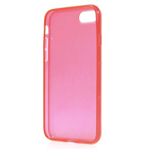 Doorzichtig TPU Hoesje iPhone 7 – rood