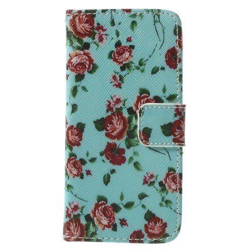 iphone5c-book case bloemen