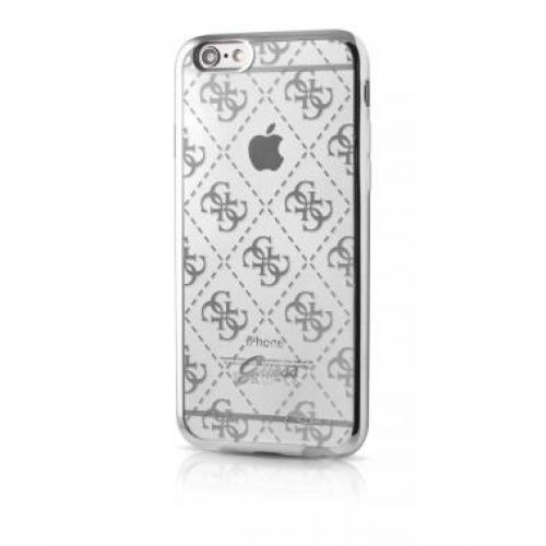 iphone6-guess-hoesje-transparant-zilver