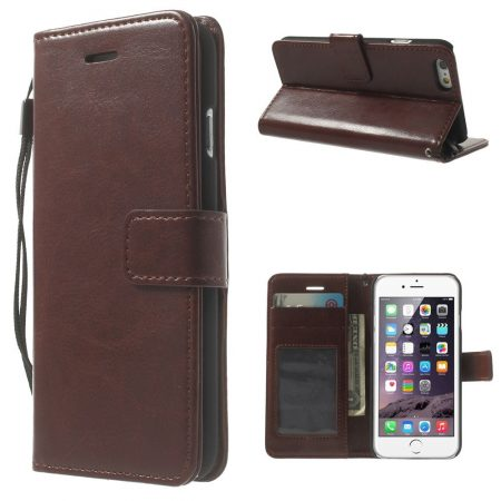 iphone6-wallet-book-case bruin