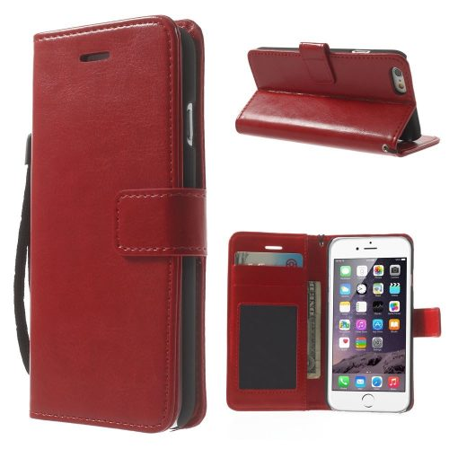 iphone6-wallet-book-case rood