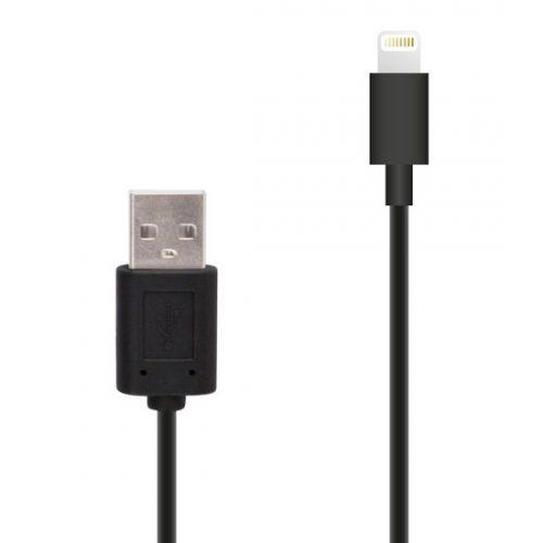 Muvit Lightning Kabel 8-pins zwart 100cm